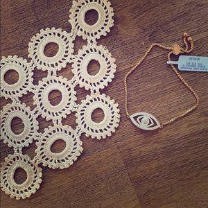 Bracelet | Gold plated sterling evil eye 🧿